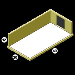 20x40 Storage Unit w/ 1 Door
