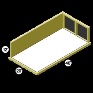 20x40 Storage Unit w/ 2 Doors